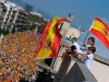 Catalani in piazza contro la secessione ed a favore dell'unità di Spagna