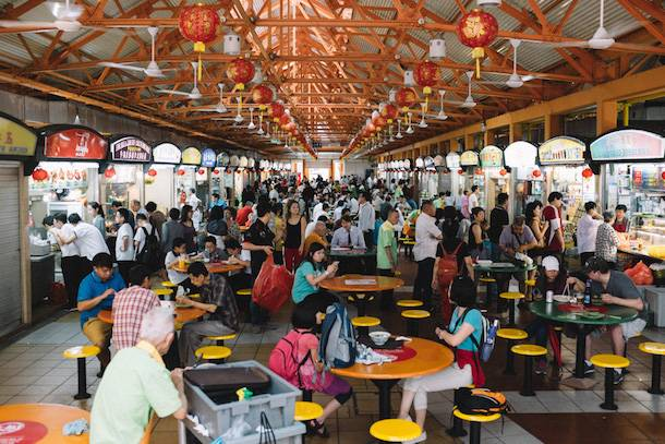 Hawker Centres street food a singapore