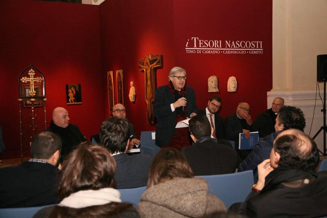 Vittorio Sgarbi il catalogo i Tesori nascosti