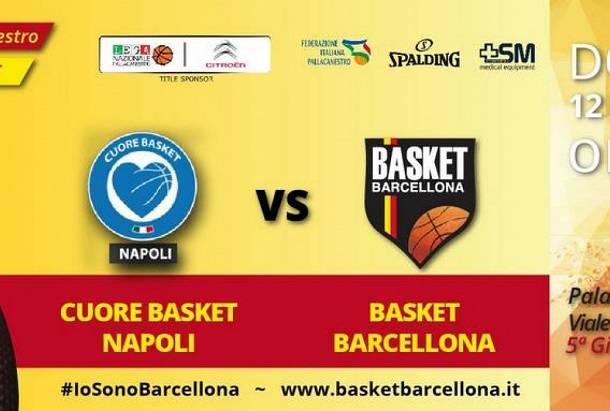 Barcellona nuova vittima di Cuore Napoli Basket al Palabarbuto