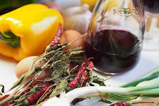 la dieta mediterranea il vino e la verdura
