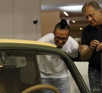 capitan Hamsik inaugura il Motor Show di Napoli alla Mostra d'Oltremare