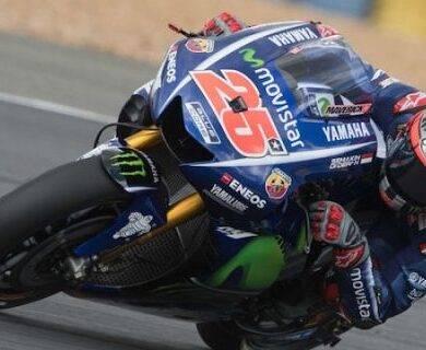 Maverick Vinales trionfa al MotoGP di Le Mans, caduta beffa per il dottore