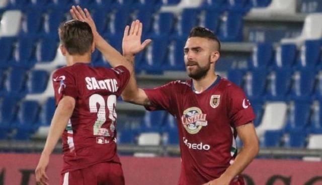 La Reggiana batte la Juve Stabia nell'andata degli ottavi di finale play off Lega Pro