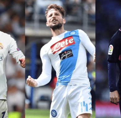 Top 11 europea: Mertens accanto a Messi e Cristiano Ronaldo