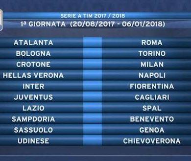 Calendario Serie A - 2017/18