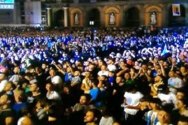 Solo in diecimila al Maradona Day in Piazza Plebiscito