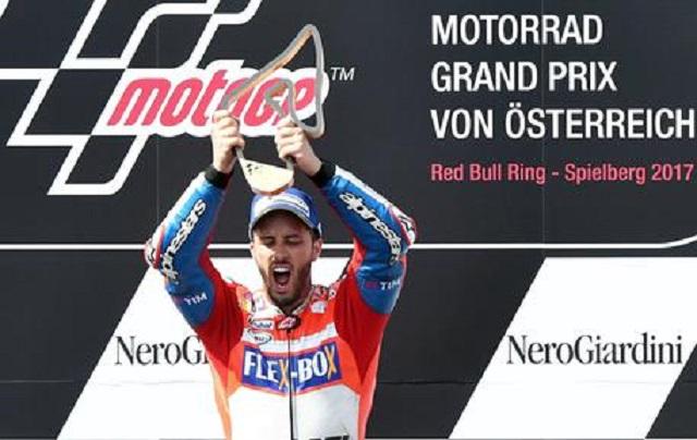 Austria MotoGP: splendida vittoria di Dovizioso che precede Marquez, terzo Pedrosa, il pesarese finisce settimo