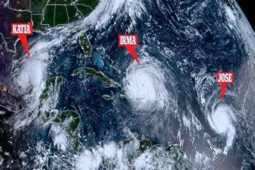 Irma, Jose e Katia-tre uragani nell'atlantico