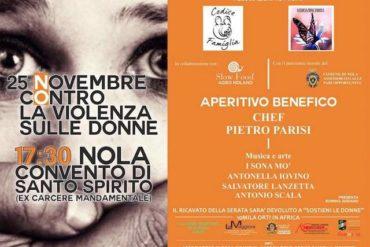 25 novembre a nola con lo chef parisi No alla violenza sulle donne