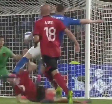 Albania vs Italia 0-1: rete vincente di Candreva, azzurri testa di serie nell'urna spareggi