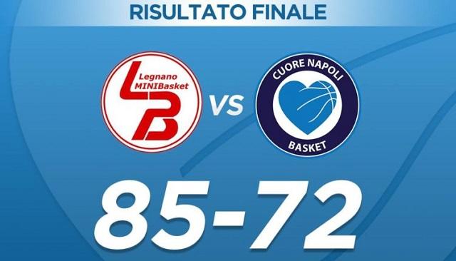 Basket serie A2: nuova debacle per Cuore Napoli, azzurri battuti 85-72