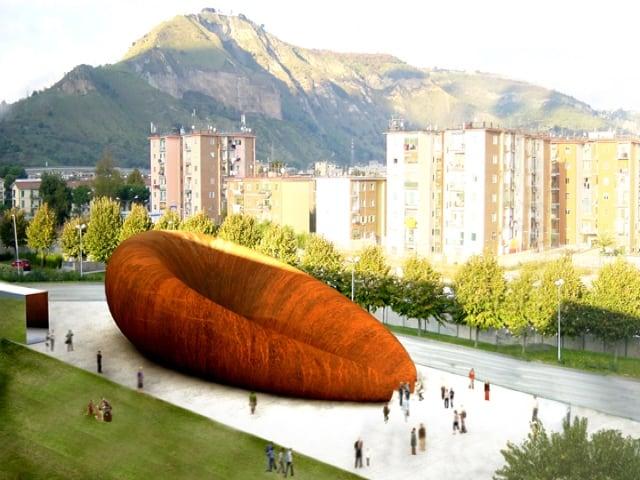 Napoli Anish Kapoor e la scultura che fa discutere-1