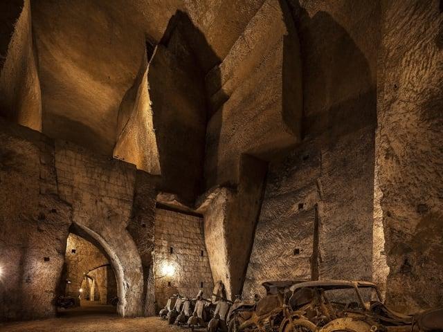 Scoperti alla Galleria Borbonica di Napoli i resti di un coccodrillo-1