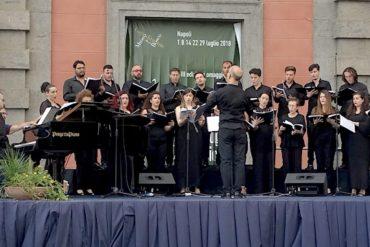 Concerto del Coro polifonico di Napoli, belvedere del Real Bosco di Capodimonte
