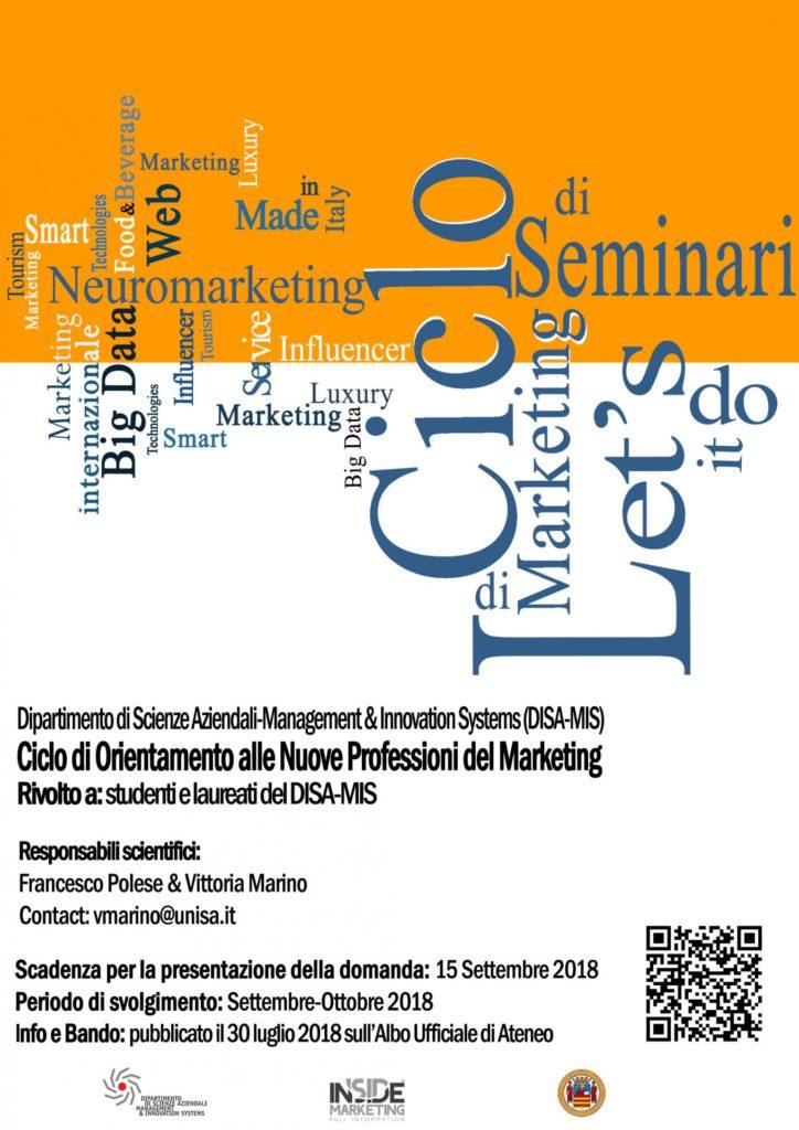 Al via i corsi di orientamento alle nuove professioni del Marketing per allievi e laureati dell'Universita di Salerno