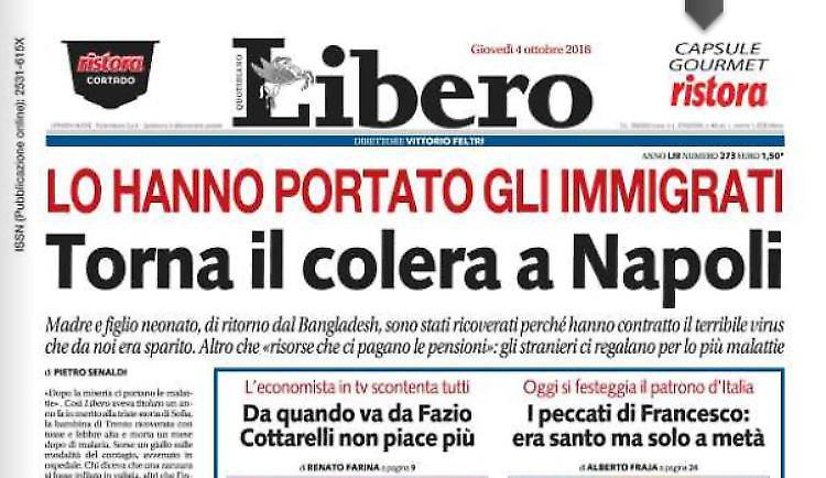 Il famoso scrittore napoletano Maurizio De Giovanni inveisce nei confronti di Vittorio Feltri per il suo titolo su Libero
