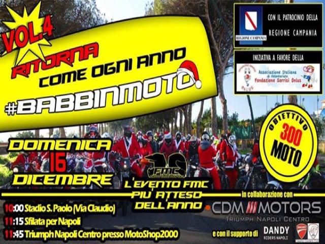 Quarta edizione della Babbinmoto, la manifestazione solidale a favore dei piccoli ricoverati del Santobono-Pausillipon di Napoli-1