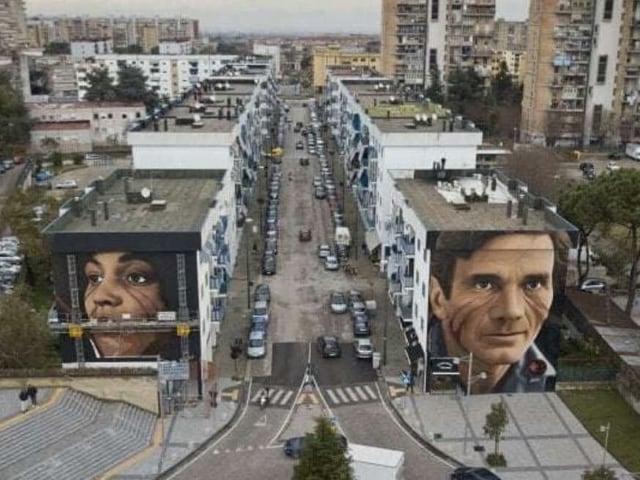 Lo Street Artist Jorit completa i maxi murales a Scampia-1