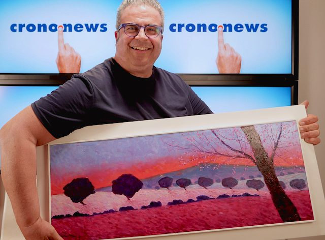 Il Maestro Alfredo Cordova ospite negli studi Crono.news per parlarci della pittura paesaggistica contemporanea