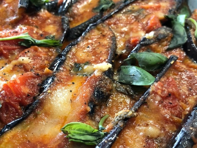 Melanzane a barchetta, piatto estivo della cucina napoletana-1