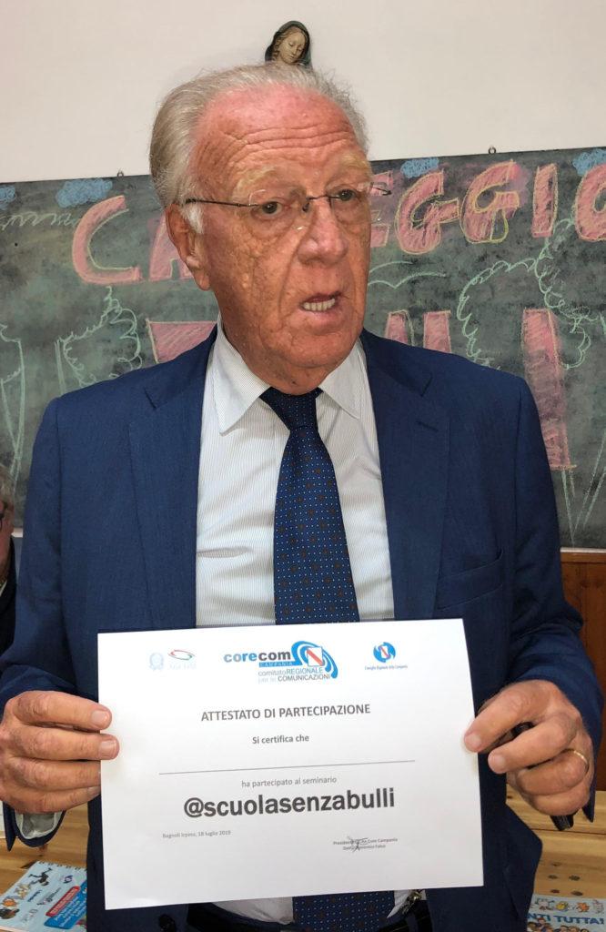 Bullismo -campagnia Scuola senza bulli -Dott. Domenico Falco Presidente Corecom Campania