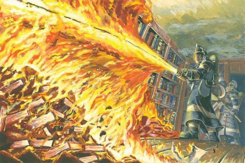 Ray Bradbury - illustrazione di Fahrenheit 451
