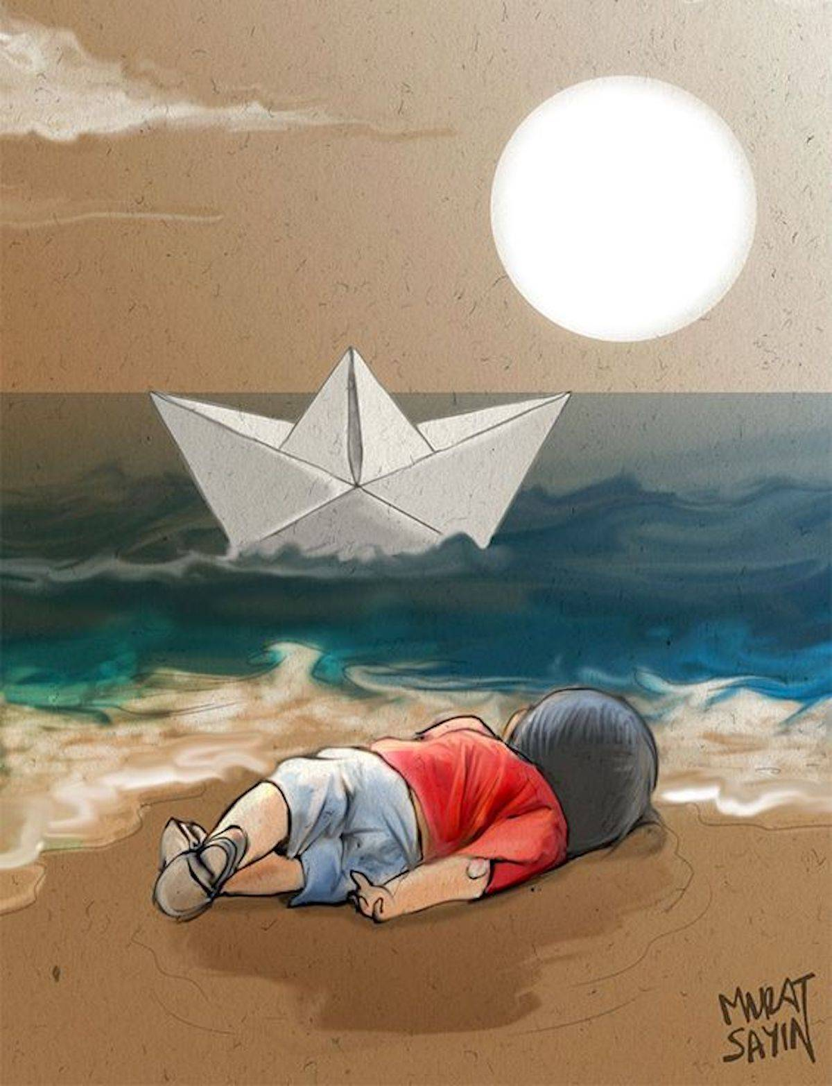Genocidio - Illustration by Murat Sayin